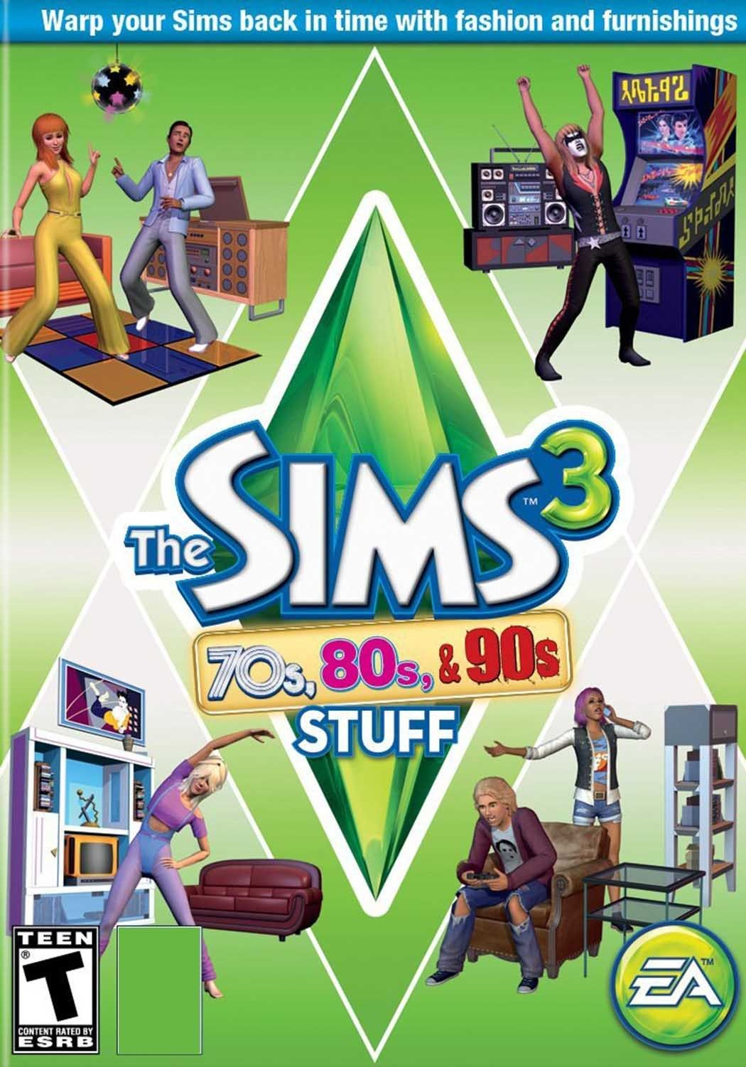 THE SIMS 3 70s, 80s, & 90s STUFF EXPANSION PACK