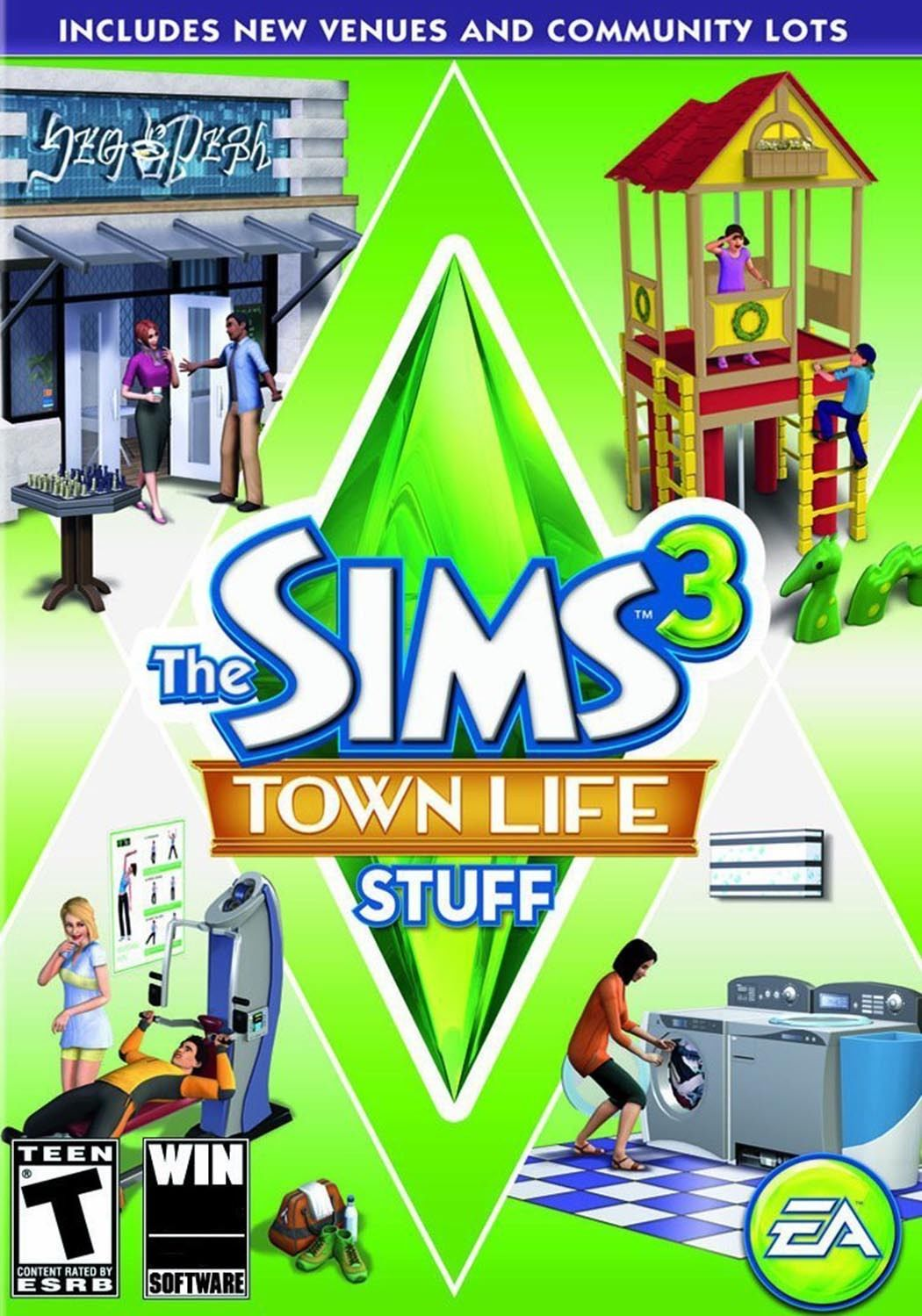 THE SIMS 3 TOWN LIFE STUFF EXPANSION PACK
