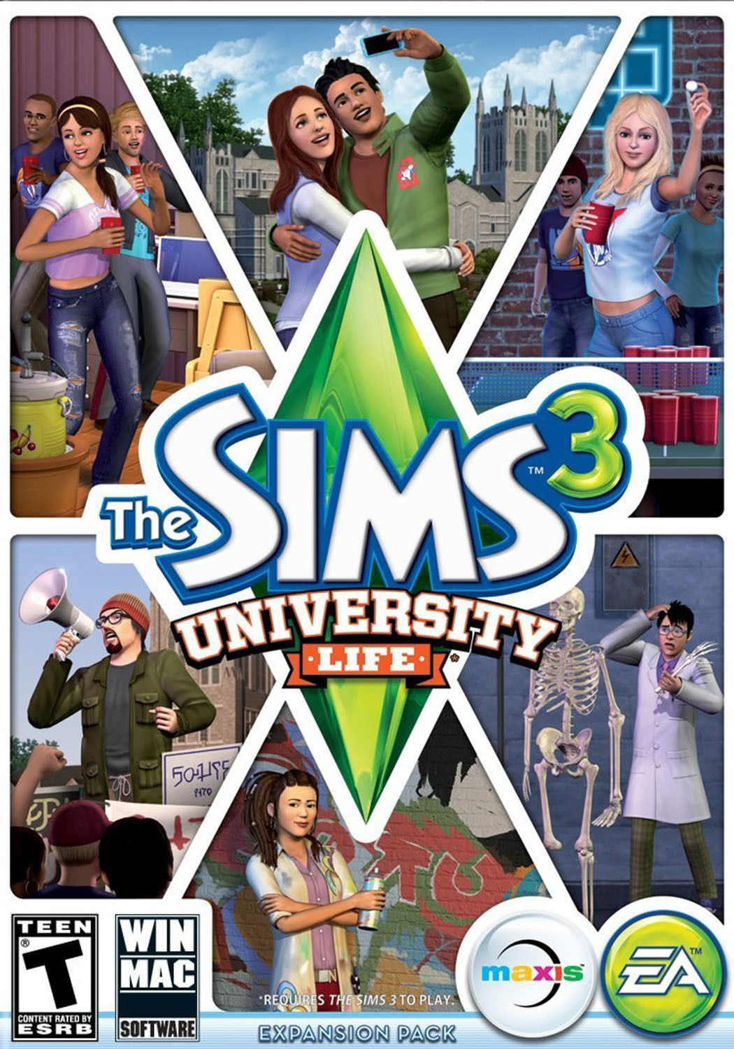 THE SIMS 3 UNIVERSITY LIFE EXPANSION PACK